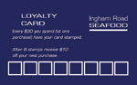 ingham road seafood  loyalty cards